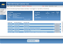 Chevrolet Europe Technical Assistance Portal 2007